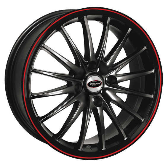 Team Dynamics - Jet RS (Gloss Black With Red Line)