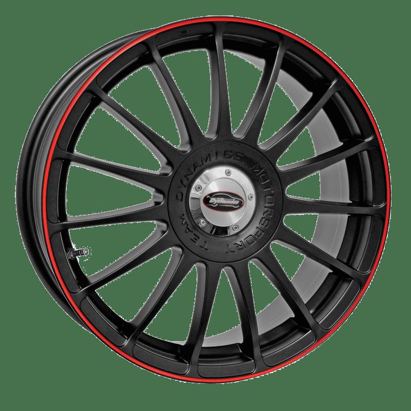 Team Dynamics - Monza RS (Matt Black With Red Line)