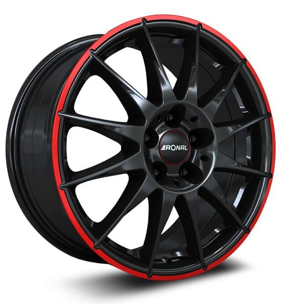 Ronal - R54 MCR (Jetblack-Red Rim)