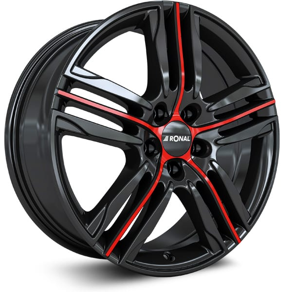 Ronal - R57 (Jet Black Red Spoke)