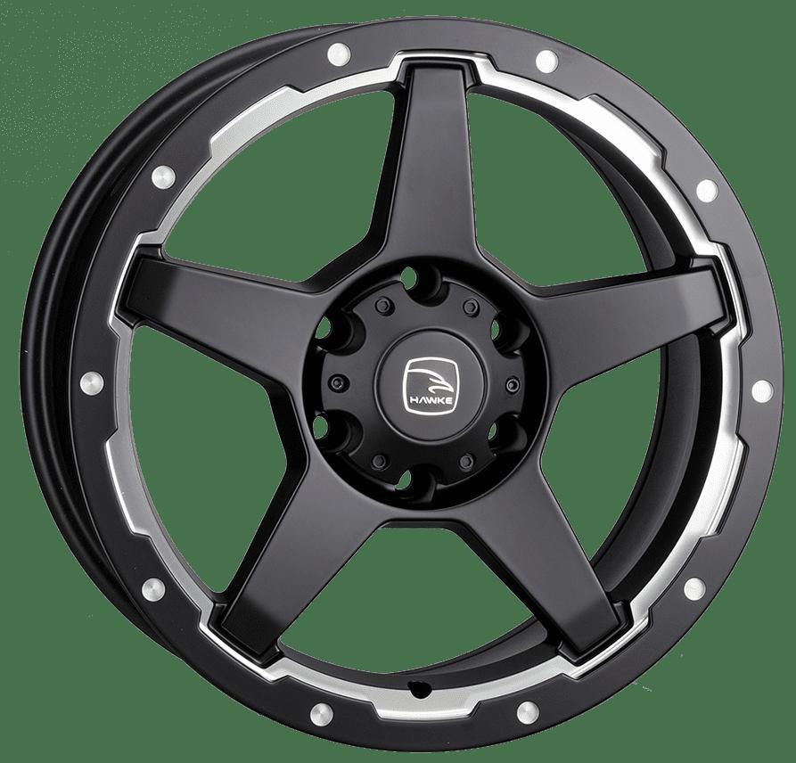 Hawke Wheels - Eiger (Matt Black / Silver)