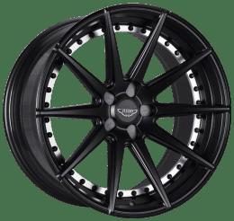 Judd - T311 (Satin Black Polished Undercut Black Rivets)