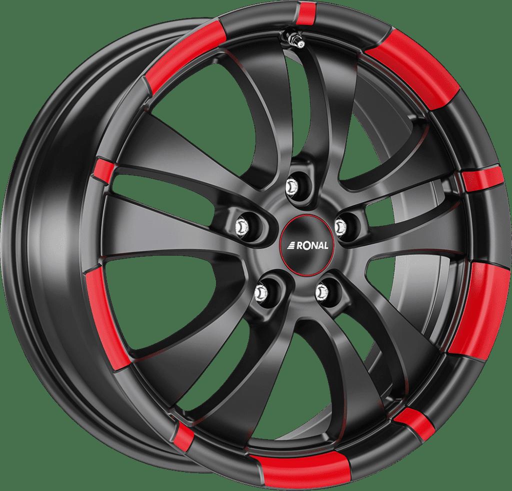 Ronal - R59 (Jet Black Matt Red Rim)