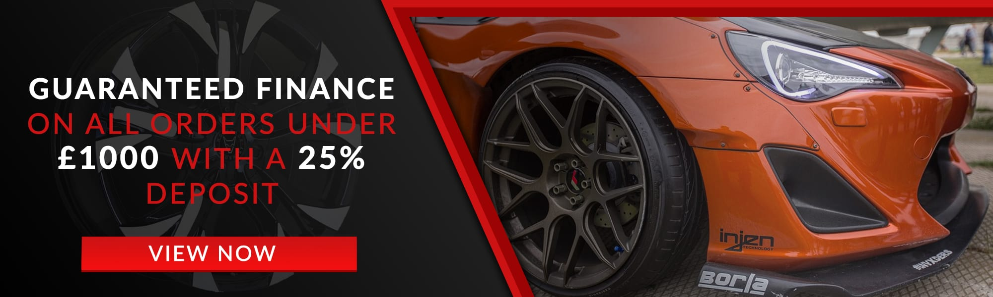Guaranteed Finance on all orders under £1000 with a 25% deposit
